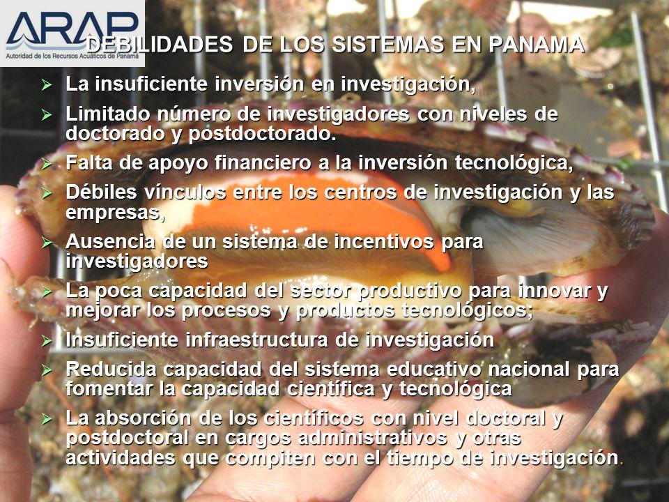 DEBILIDADES DE LOS SISTEMAS EN PANAMA