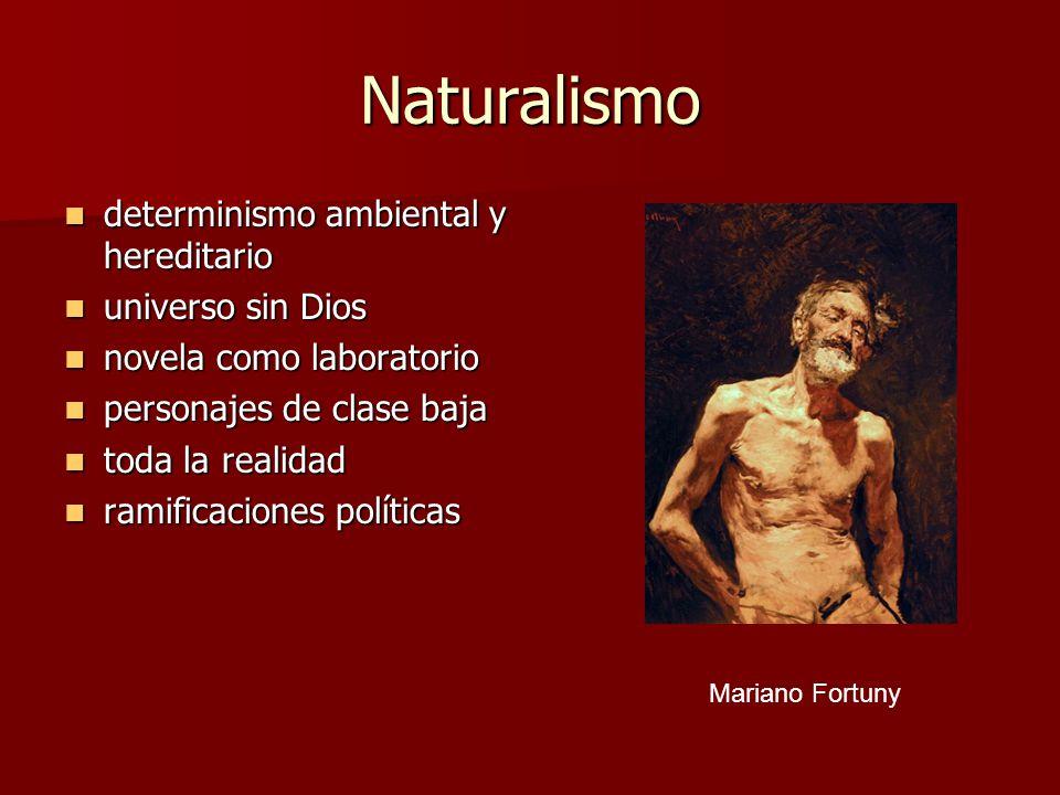 Naturalismo determinismo ambiental y hereditario universo sin Dios