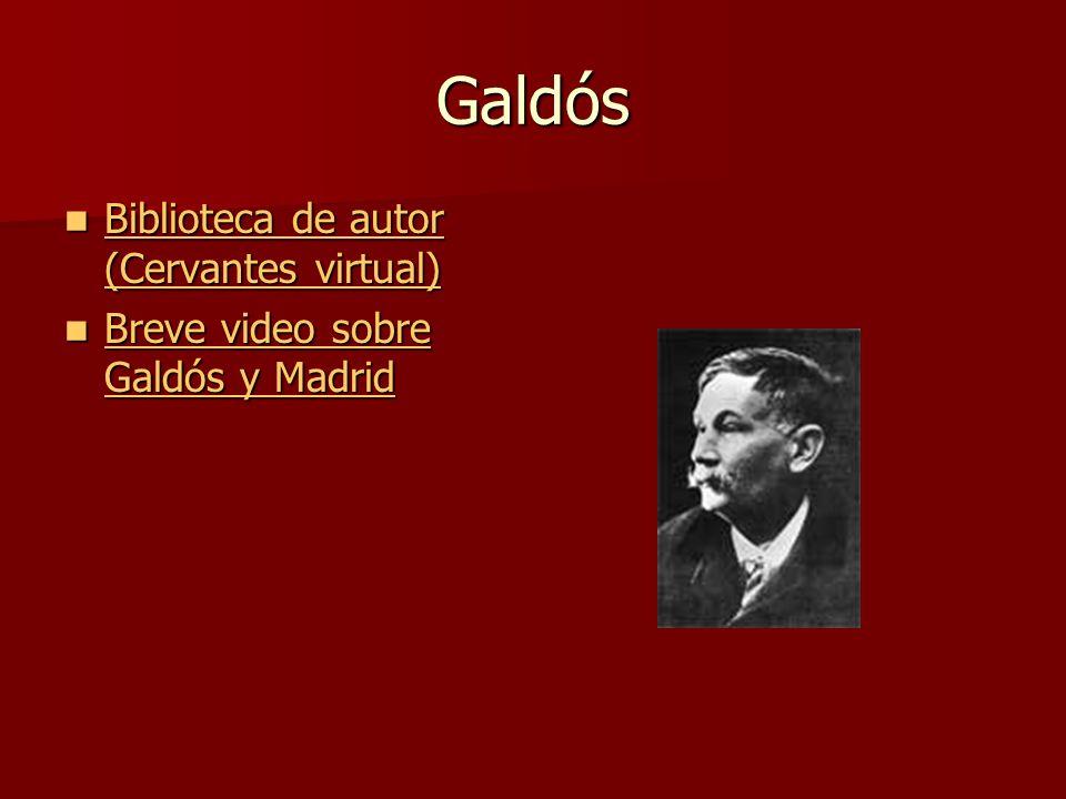 Galdós Biblioteca de autor (Cervantes virtual)