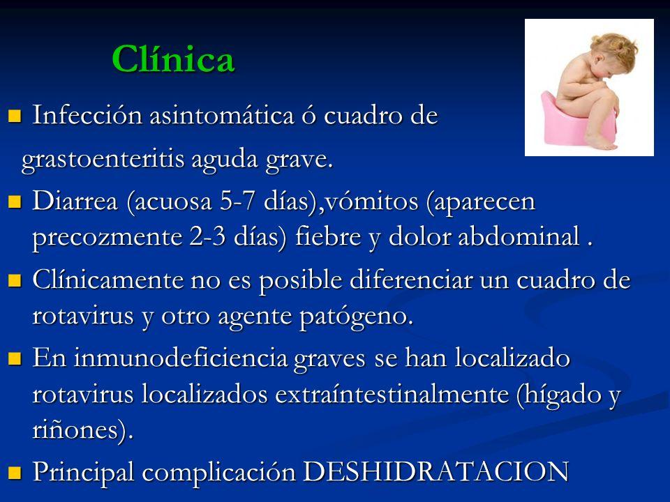 Clínica Infección asintomática ó cuadro de