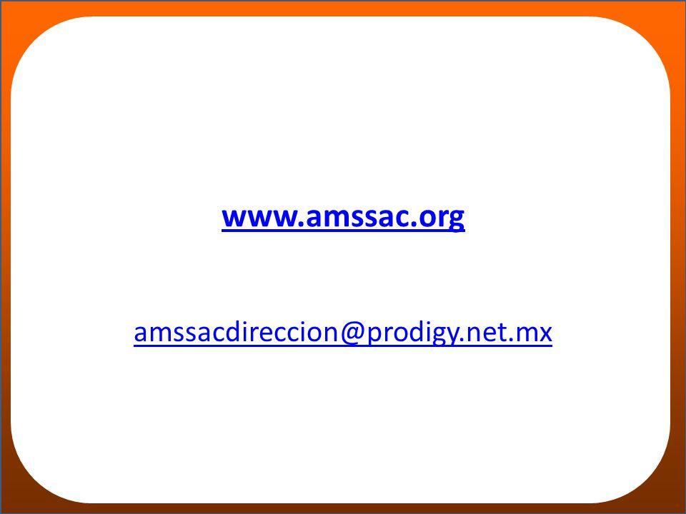 www.amssac.org amssacdireccion@prodigy.net.mx