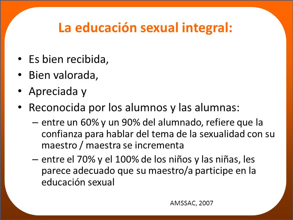 La educación sexual integral: