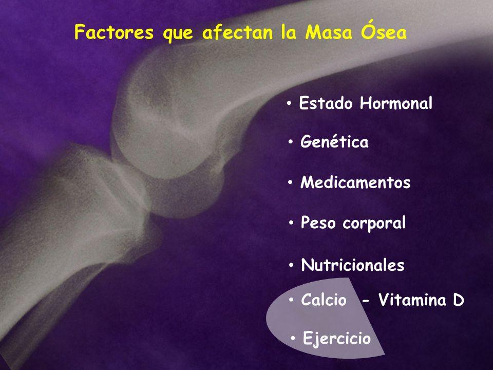 Factores que afectan la Masa Ósea