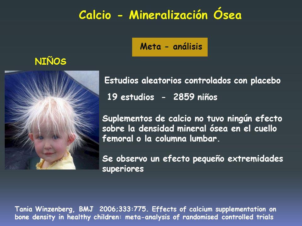 Calcio - Mineralización Ósea