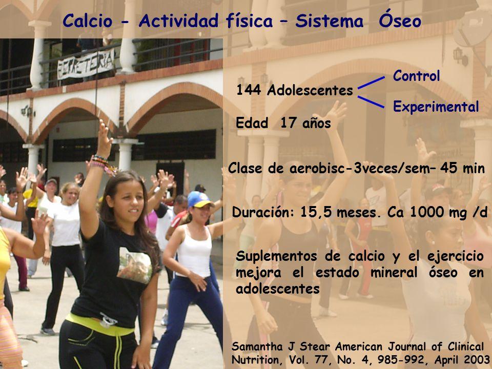 Calcio - Actividad física – Sistema Óseo