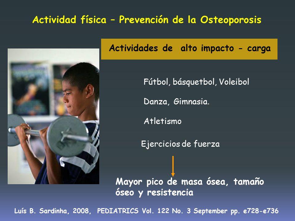 Actividad física – Prevención de la Osteoporosis