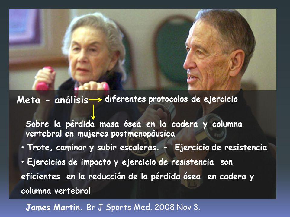 Meta - análisis diferentes protocolos de ejercicio