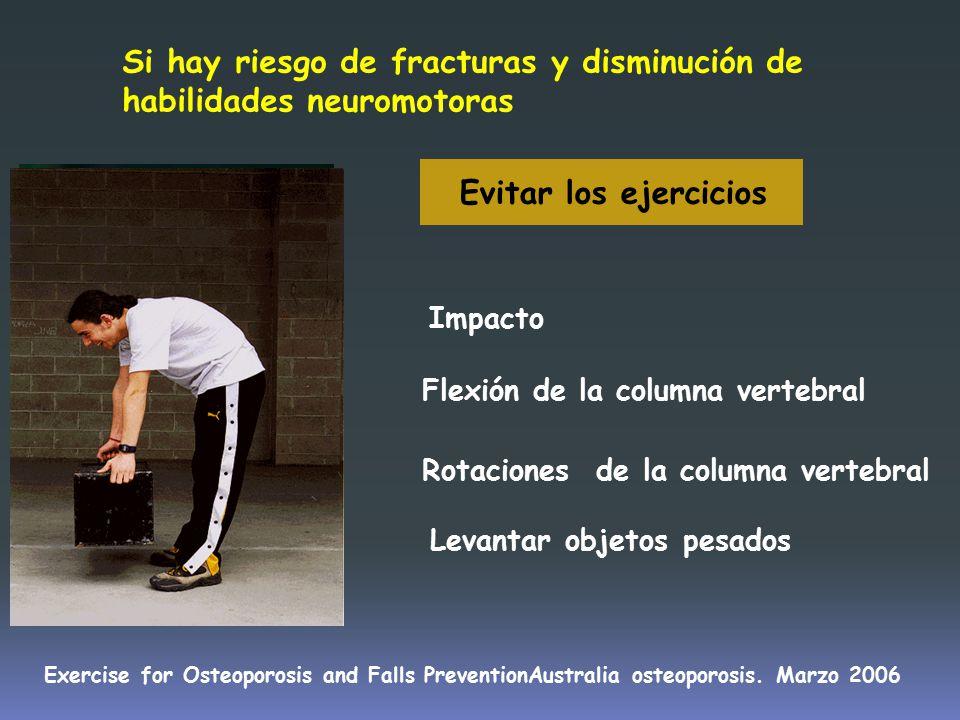 Si hay riesgo de fracturas y disminución de habilidades neuromotoras