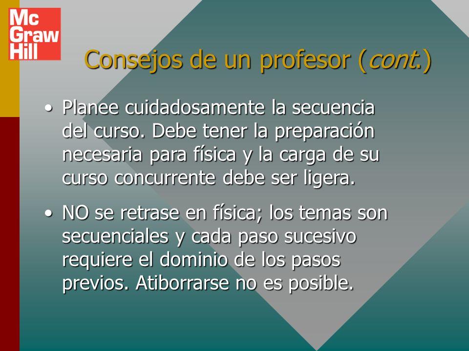 Consejos de un profesor (cont.)