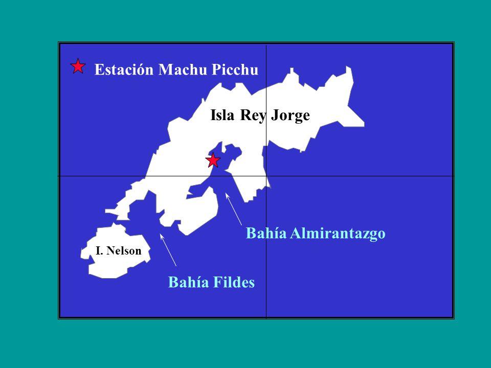 Estación Machu Picchu Isla Rey Jorge Bahía Almirantazgo Bahía Fildes