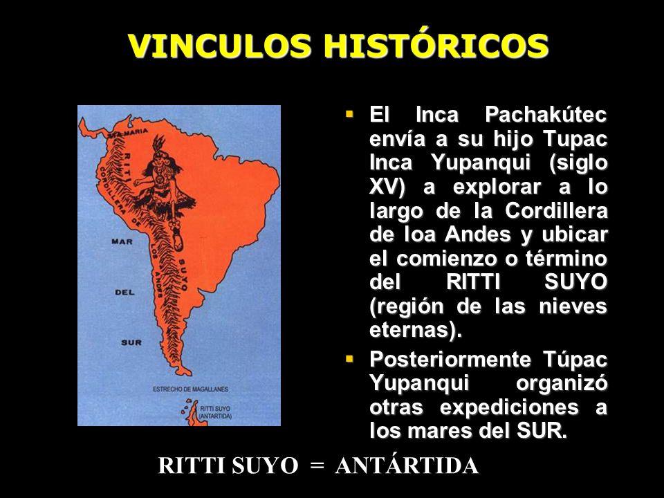 VINCULOS HISTÓRICOS RITTI SUYO = ANTÁRTIDA