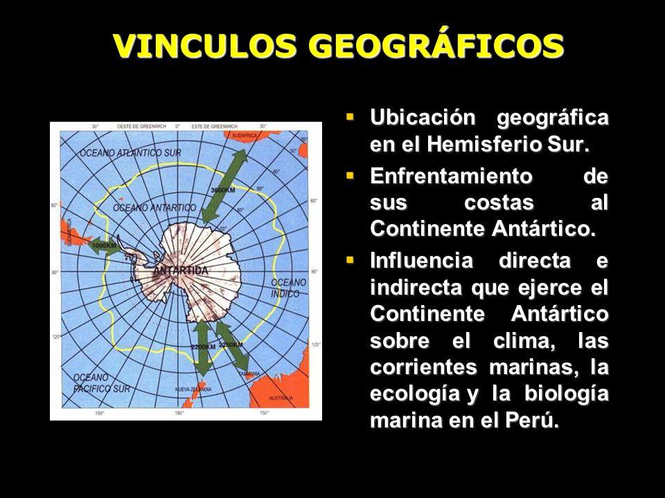 VINCULOS GEOGRÁFICOS Ubicación geográfica en el Hemisferio Sur.
