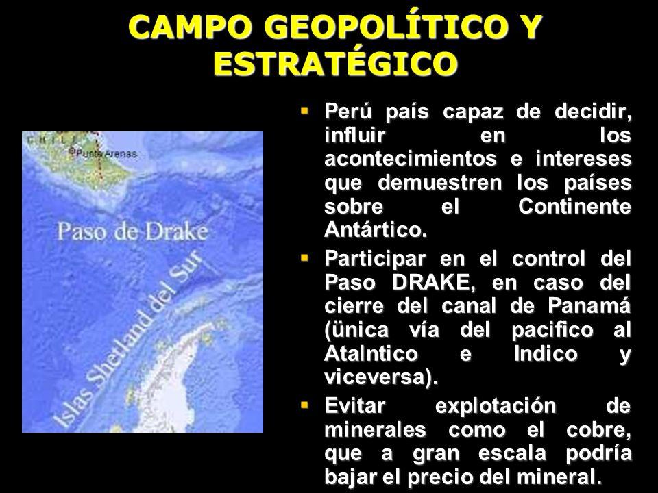 CAMPO GEOPOLÍTICO Y ESTRATÉGICO
