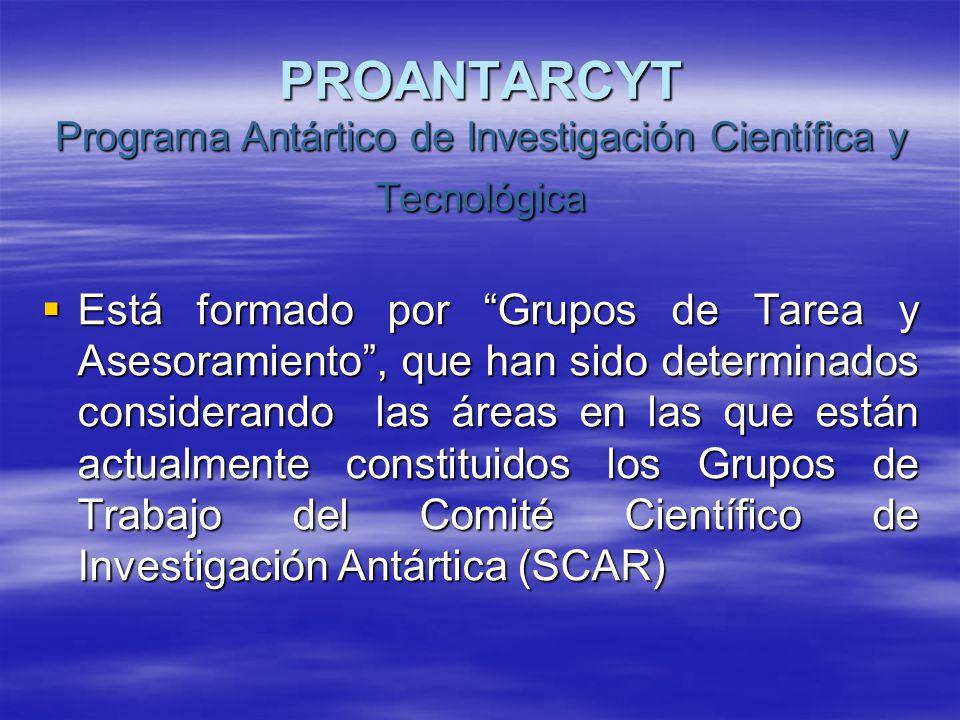 PROANTARCYT Programa Antártico de Investigación Científica y Tecnológica