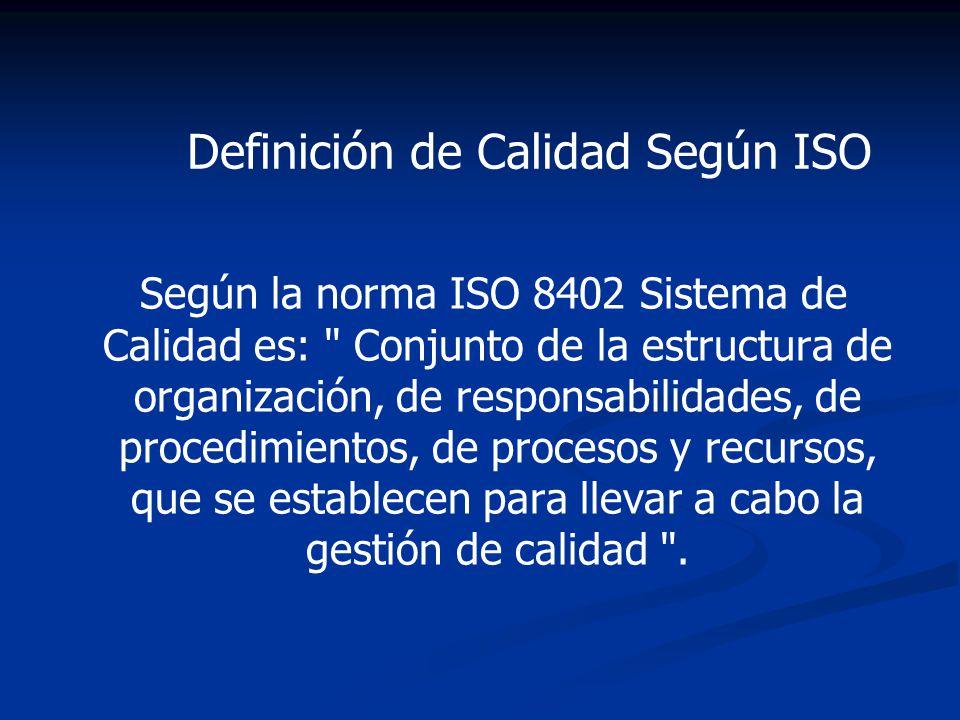 Definición de Calidad Según ISO