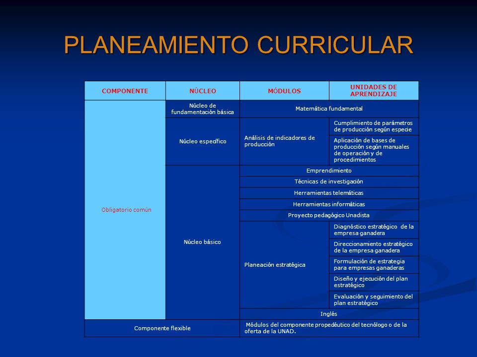 PLANEAMIENTO CURRICULAR