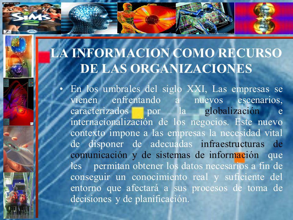 LA INFORMACION COMO RECURSO DE LAS ORGANIZACIONES
