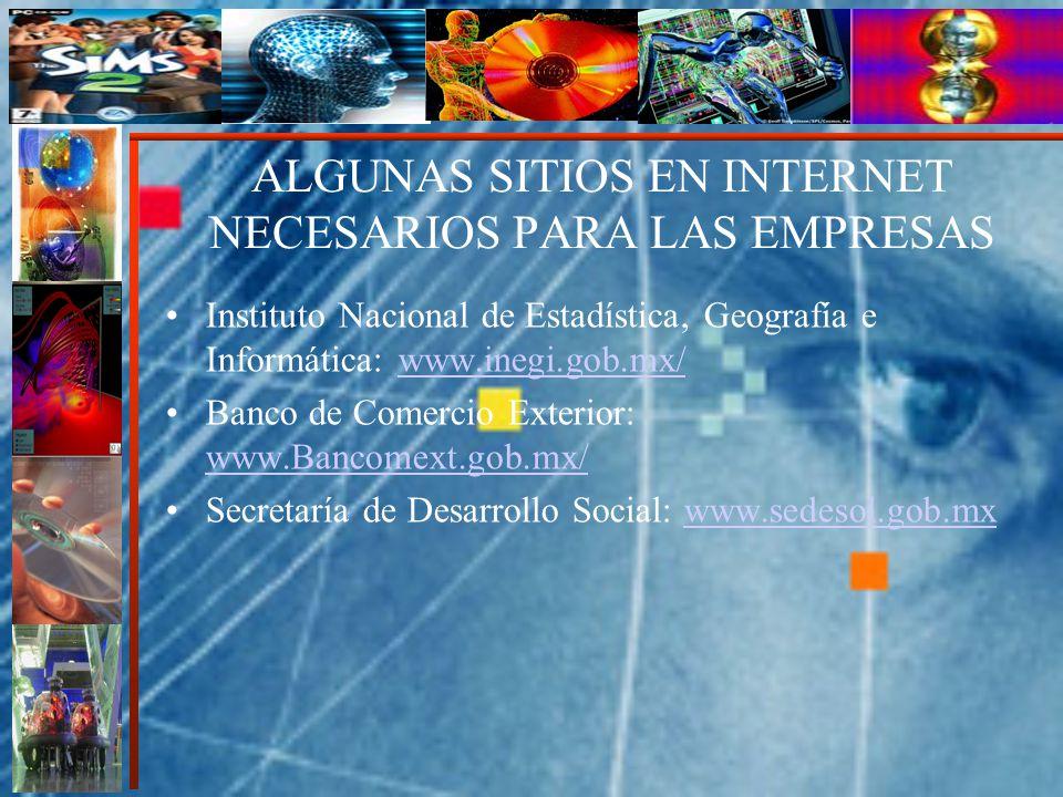 ALGUNAS SITIOS EN INTERNET NECESARIOS PARA LAS EMPRESAS