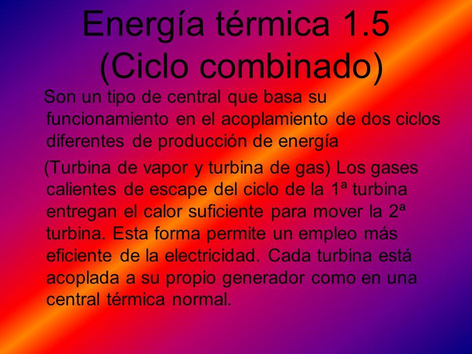 Energía térmica 1.5 (Ciclo combinado)