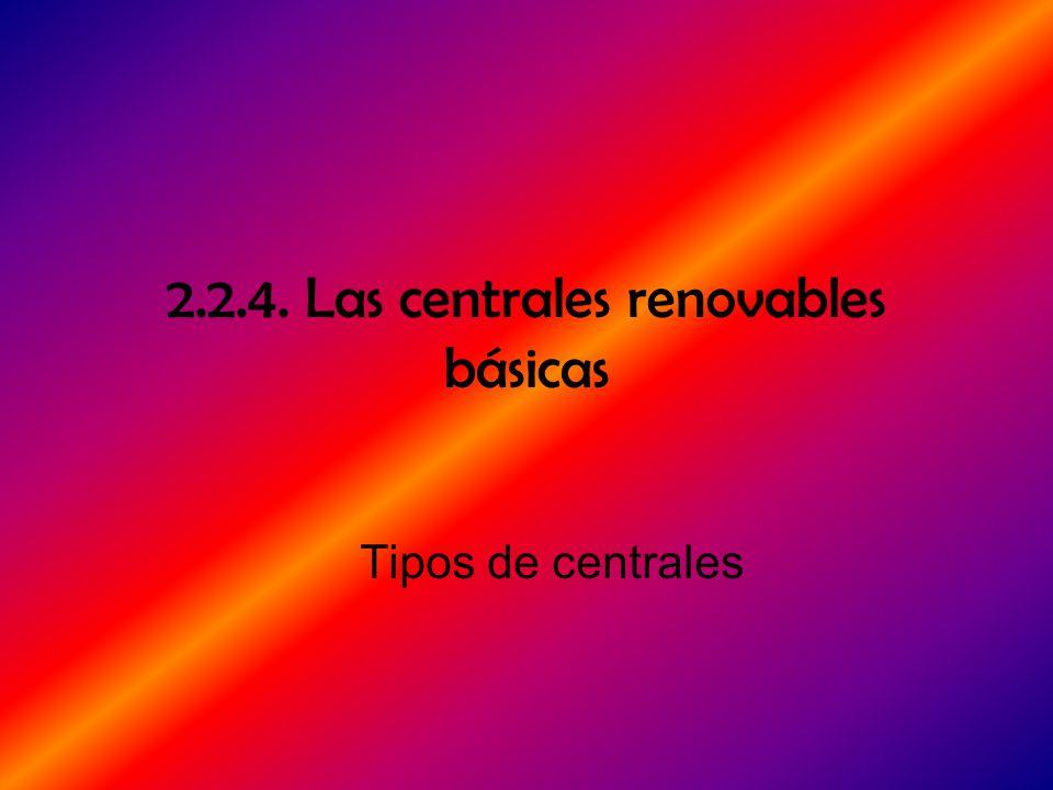 2.2.4. Las centrales renovables básicas