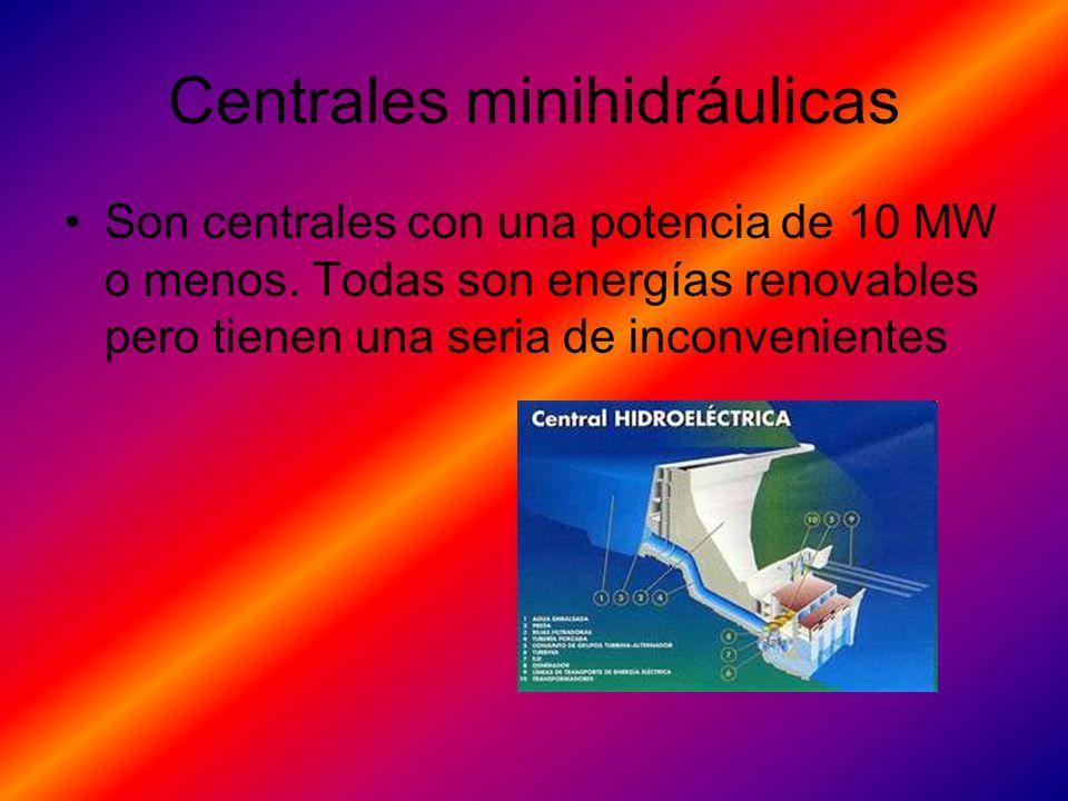 Centrales minihidráulicas