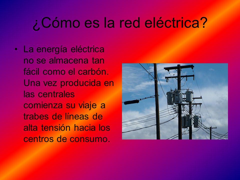 ¿Cómo es la red eléctrica
