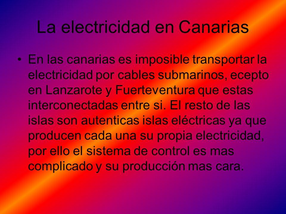 La electricidad en Canarias
