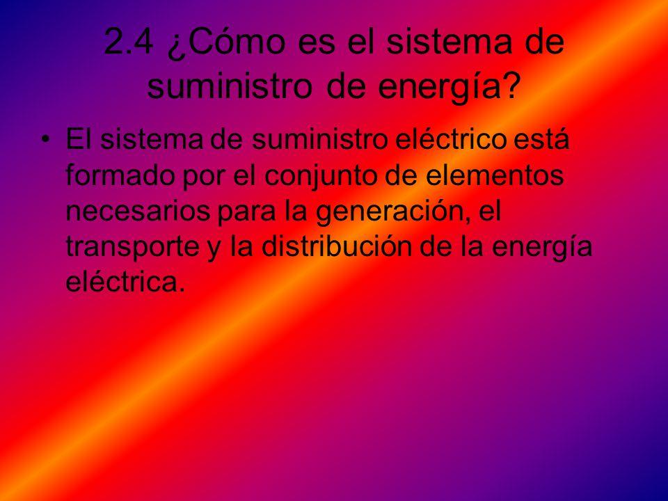2.4 ¿Cómo es el sistema de suministro de energía