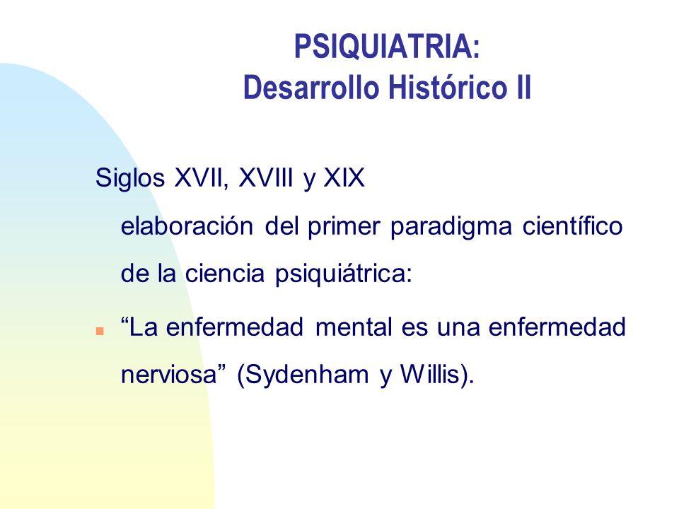 PSIQUIATRIA: Desarrollo Histórico II