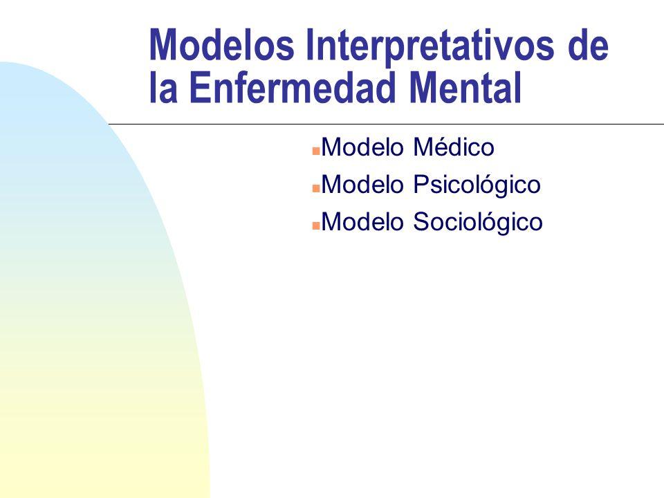 Modelos Interpretativos de la Enfermedad Mental