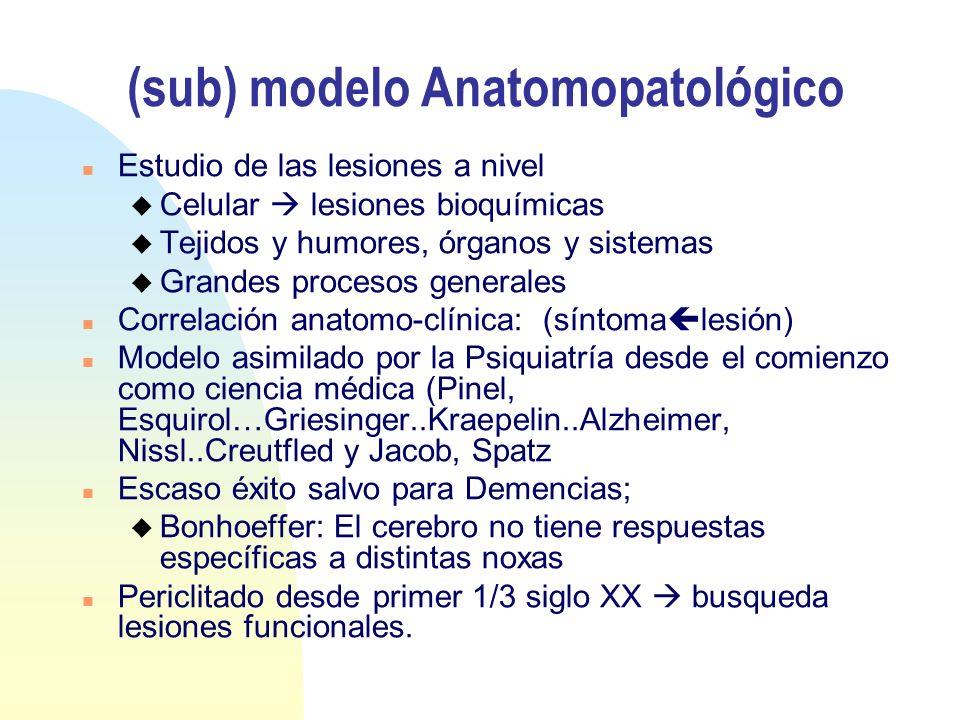 (sub) modelo Anatomopatológico