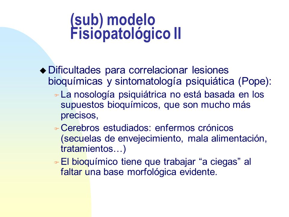 (sub) modelo Fisiopatológico II