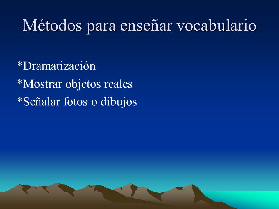 Métodos para enseñar vocabulario