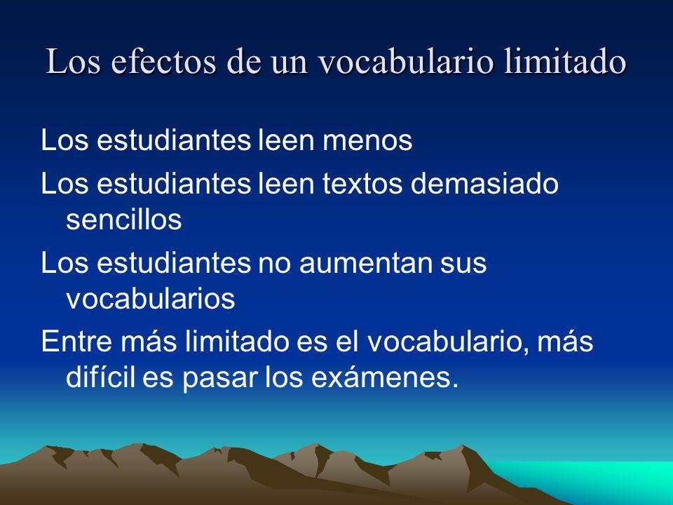 Los efectos de un vocabulario limitado