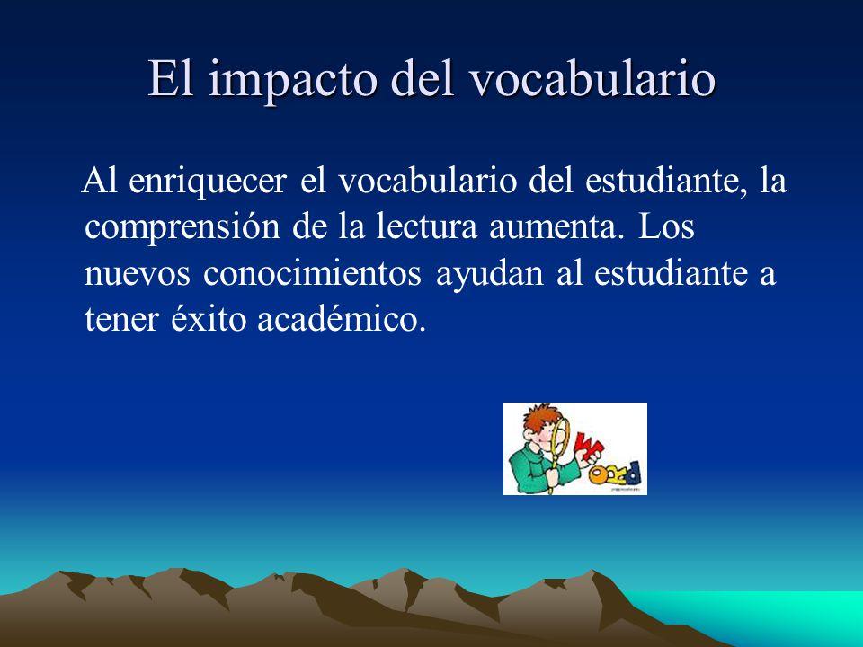El impacto del vocabulario