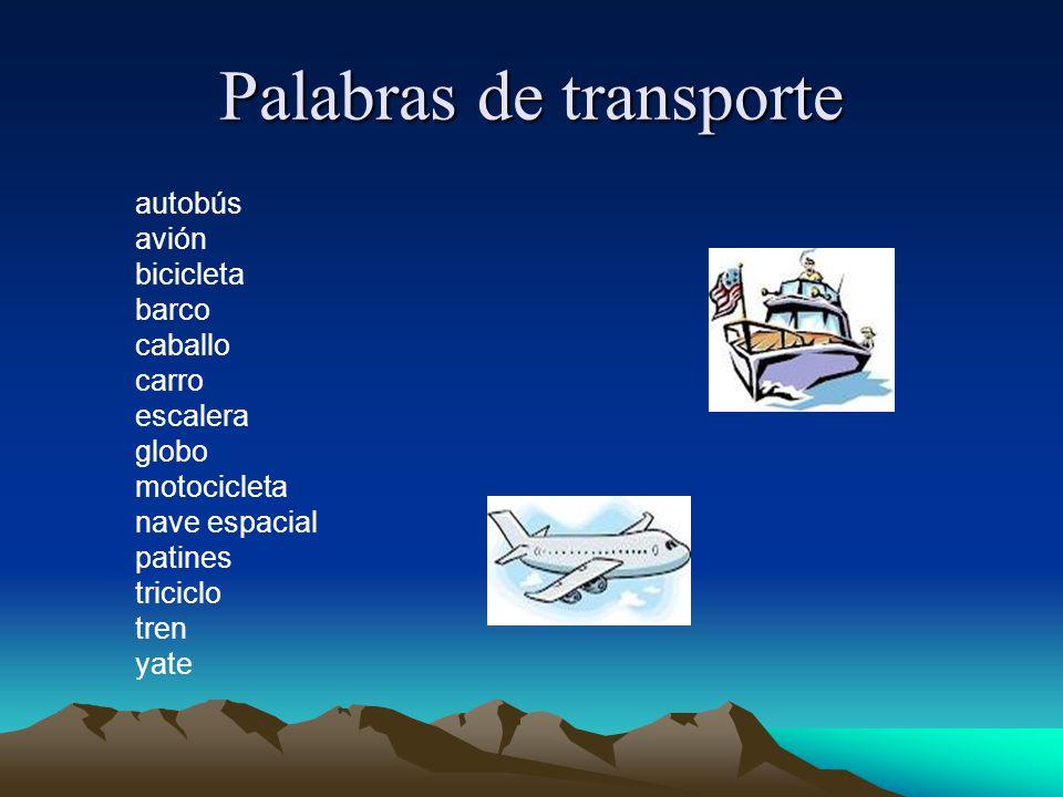 Palabras de transporte