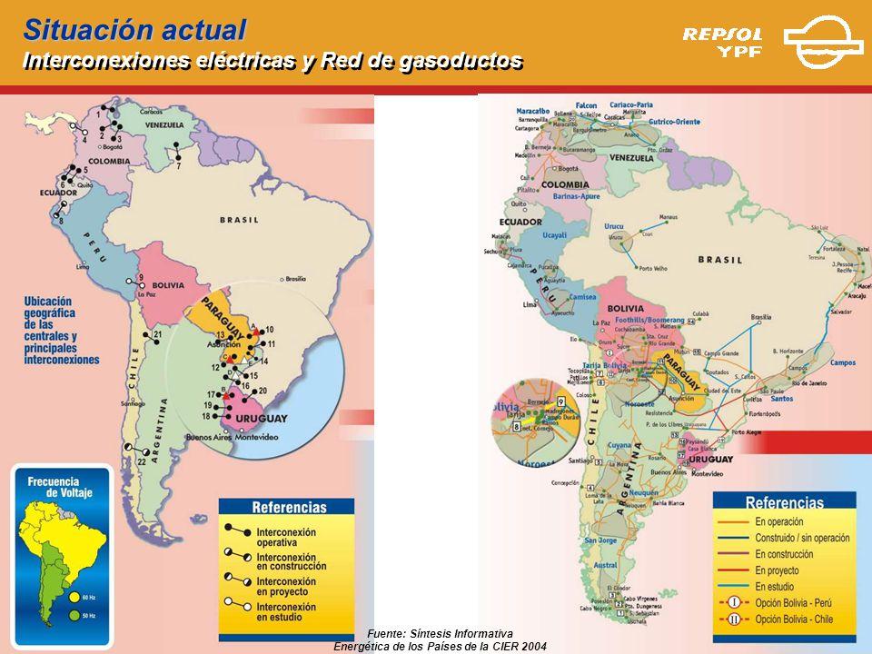 Fuente: Síntesis Informativa Energética de los Países de la CIER 2004