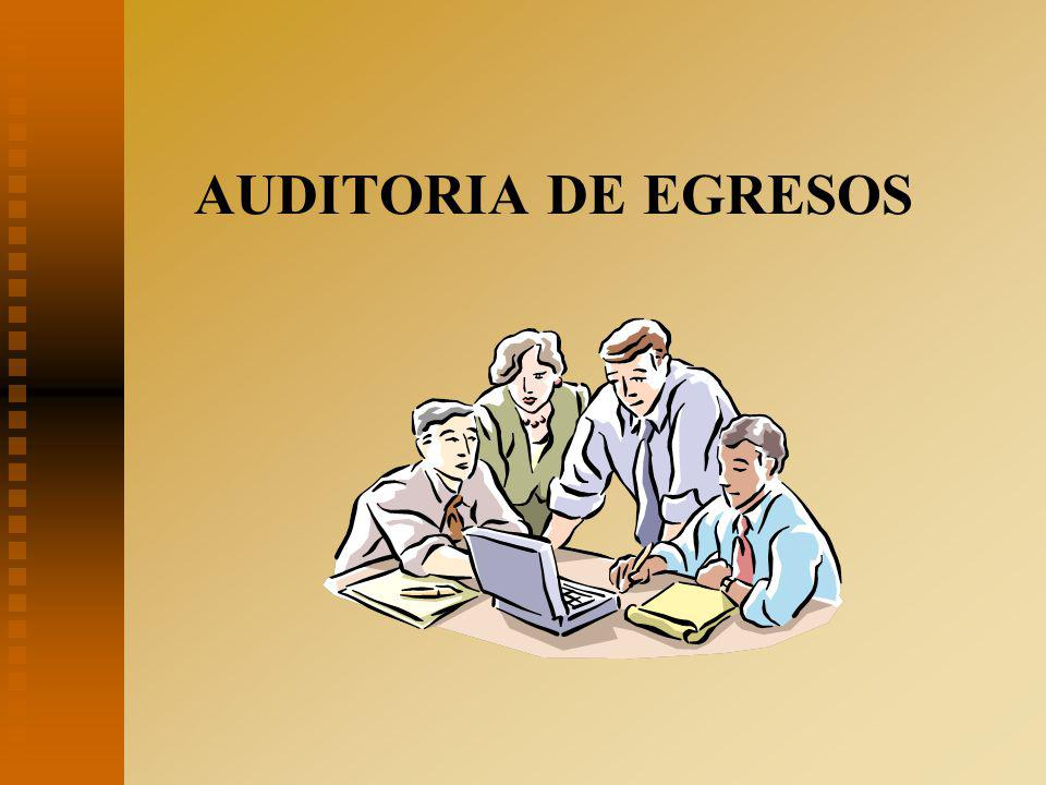 AUDITORIA DE EGRESOS