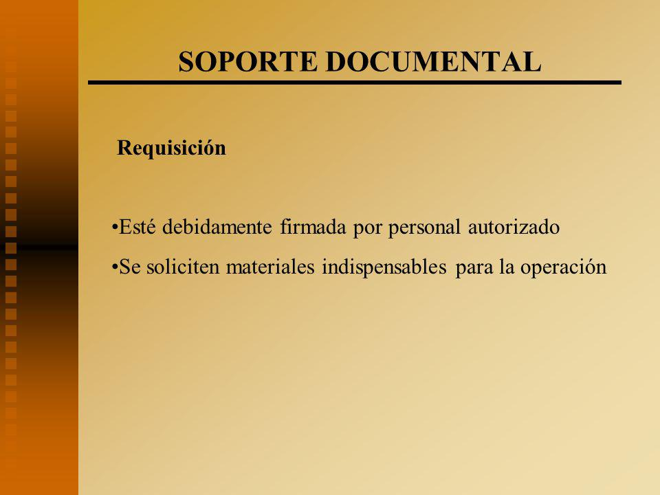 SOPORTE DOCUMENTAL Requisición