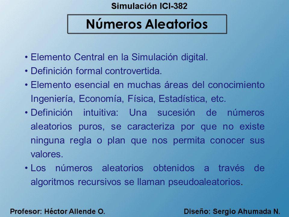 Números Aleatorios Elemento Central en la Simulación digital.