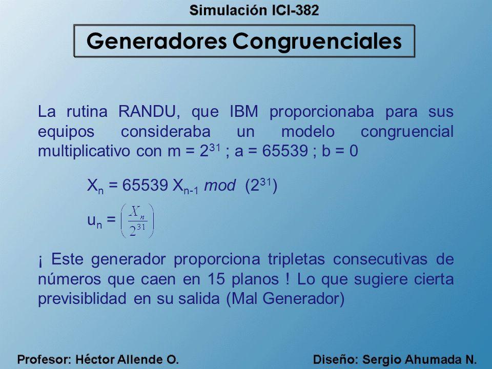 Generadores Congruenciales