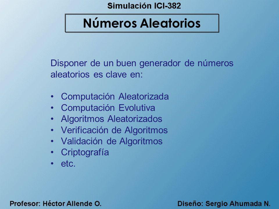 Números Aleatorios Disponer de un buen generador de números