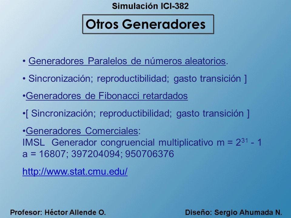 Otros Generadores Generadores Paralelos de números aleatorios.