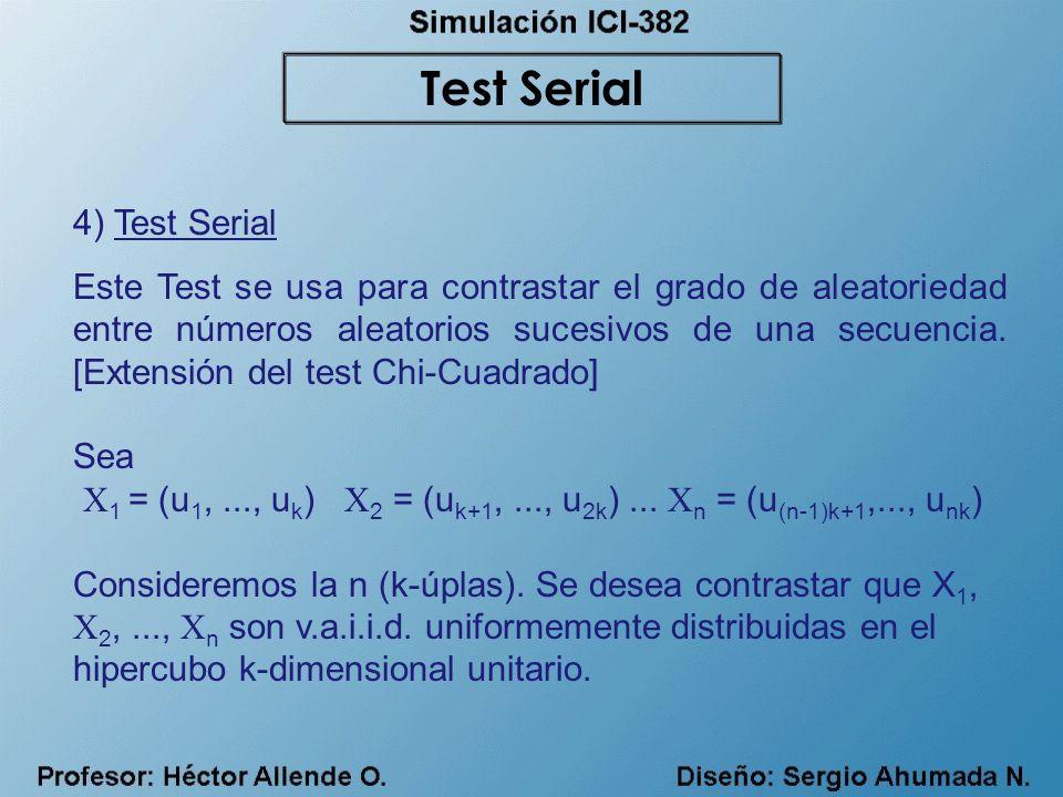 Test Serial 4) Test Serial