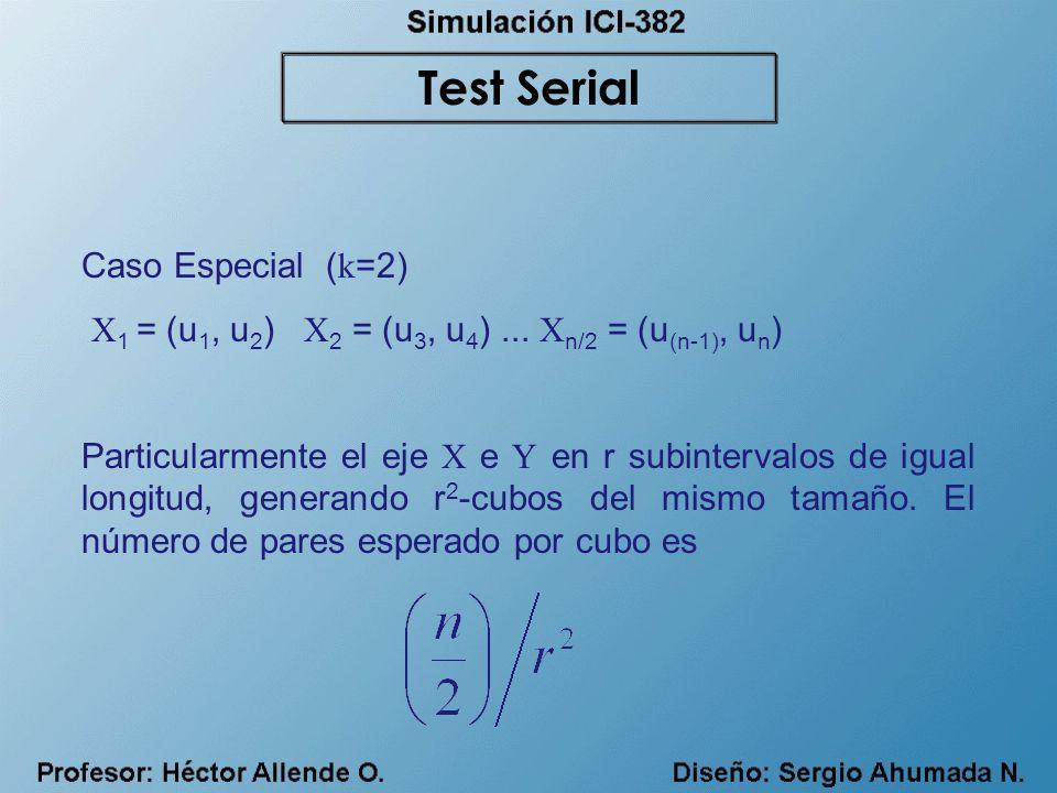 Test Serial Caso Especial (k=2)
