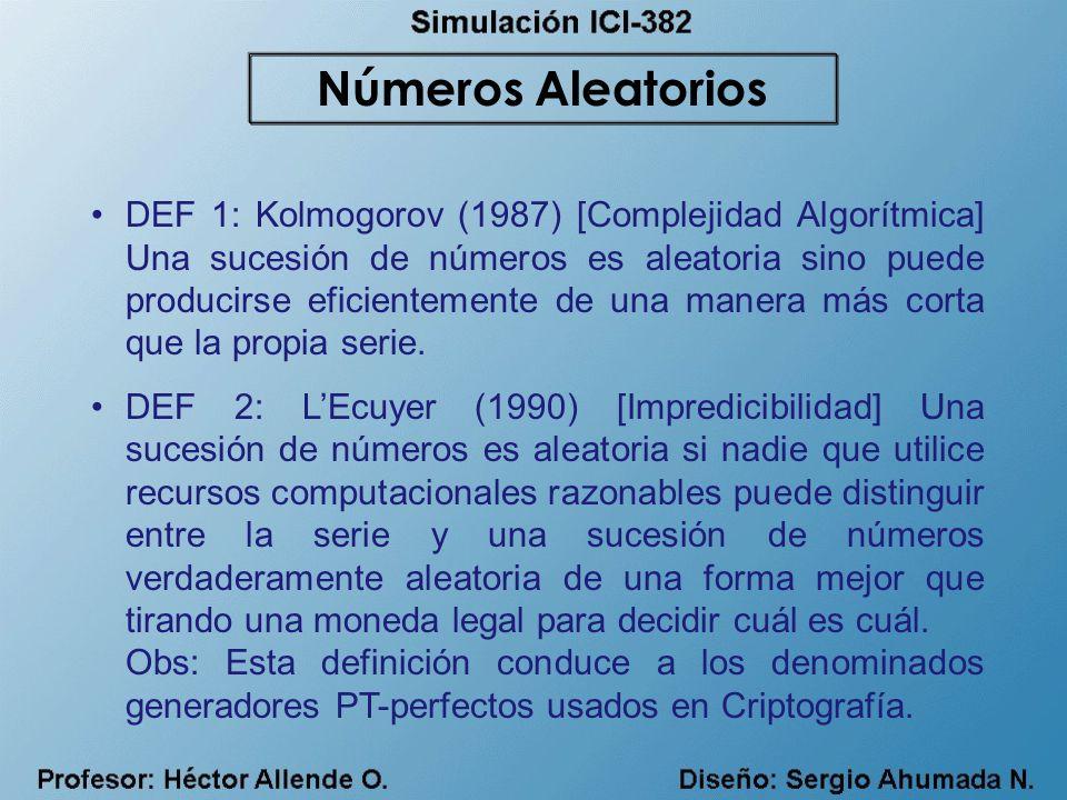Números Aleatorios