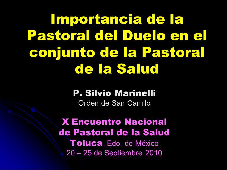 Importancia de la Pastoral del Duelo en el conjunto de la Pastoral de la Salud