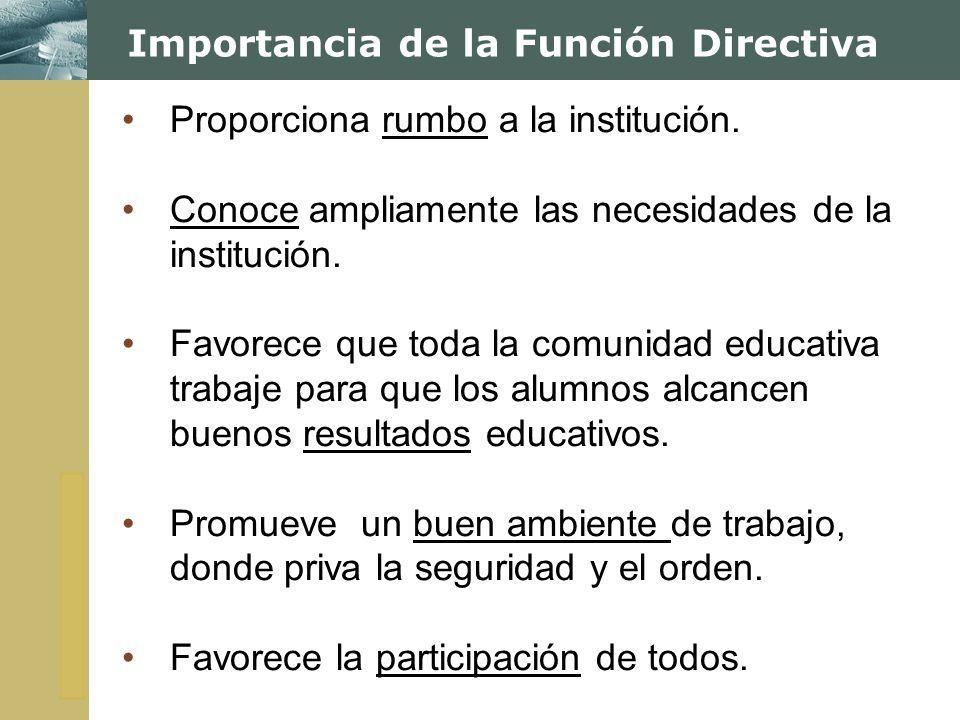 Importancia de la Función Directiva