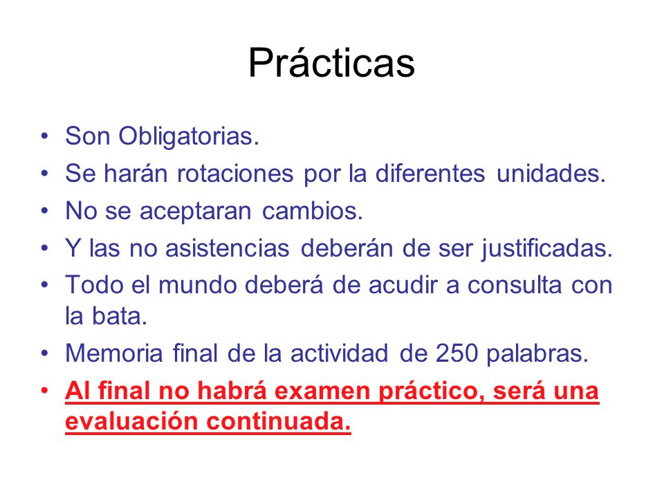 Prácticas Son Obligatorias.
