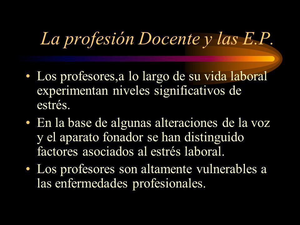 La profesión Docente y las E.P.